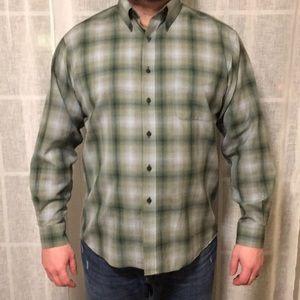 Men's Sir Pendleton Wool Aqua Green Dress Shirt